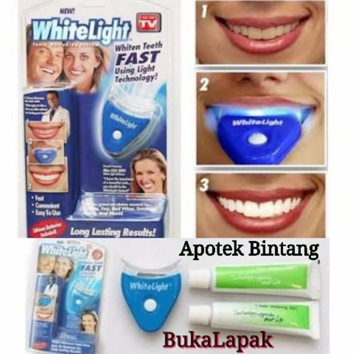 Jual Obat Pemutih Gigi Cepat Alami Whitelight Paket Alat Pemutih