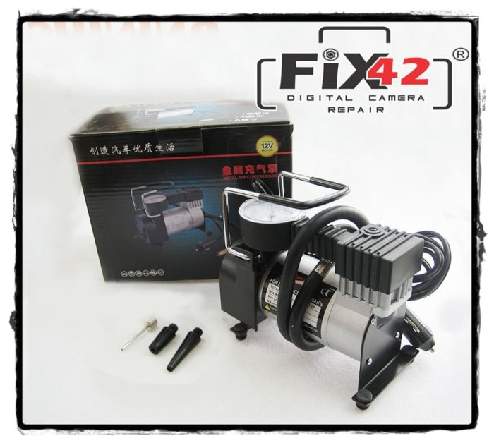 Pompa Ban Mini Tekanan 100PSI - Heavy Duty Air Compressor 12V DC Mobil