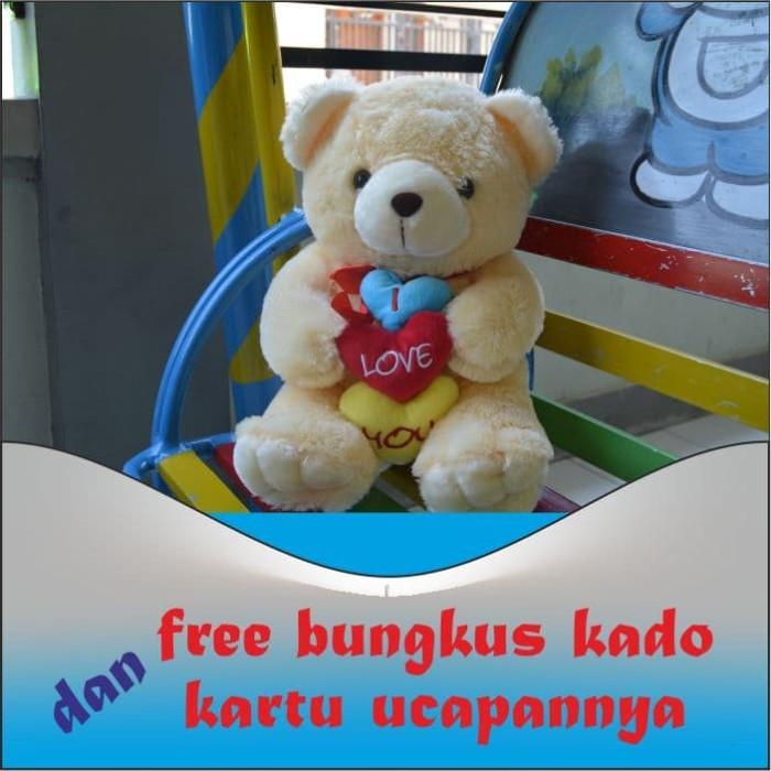 harga Boneka teddy bear cream pita i love you uk.50cm Tokopedia.com