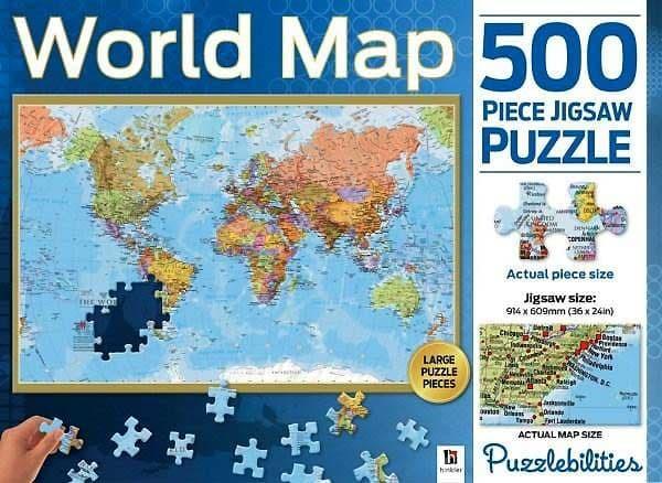 harga Mainan puzzle - 500 pcs jigsaw puzzle world map Tokopedia.com