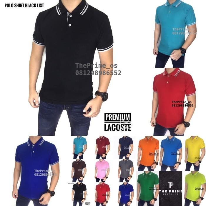 Foto Produk kaos polo shirt , polo shirt pria , kaos polo putih LIST dari ThePrime_os