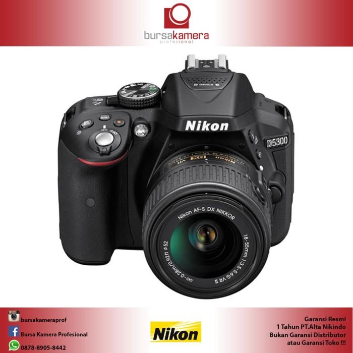 harga Nikon d5300 dslr with 18-55mm f/3.5-5.6g vr ii lens (black) Tokopedia.com