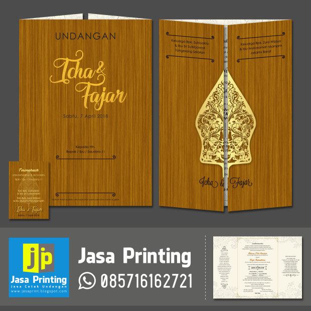 Jual Undangan Pernikahan Jawa Motif Wayang Kota Tangerang Jasa Printing Tokopedia