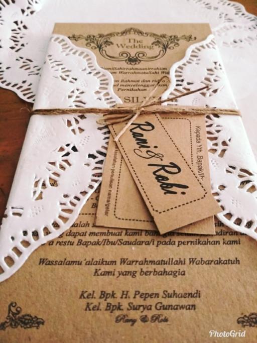 Jual Kartu Undangan Pernikahan Unik Vintage Murah Custom Bogor Kota Bogor Percetakan Arsadiena Tokopedia
