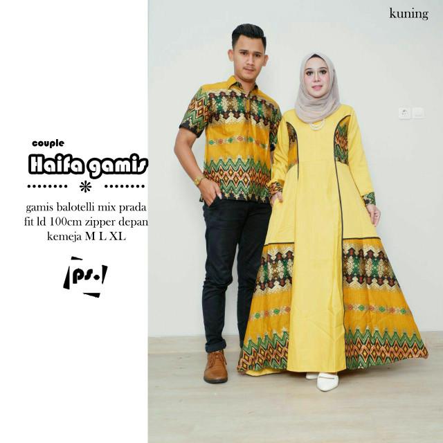 Jual Couple Batik Haifa Gamis Diflo Shop Tokopedia