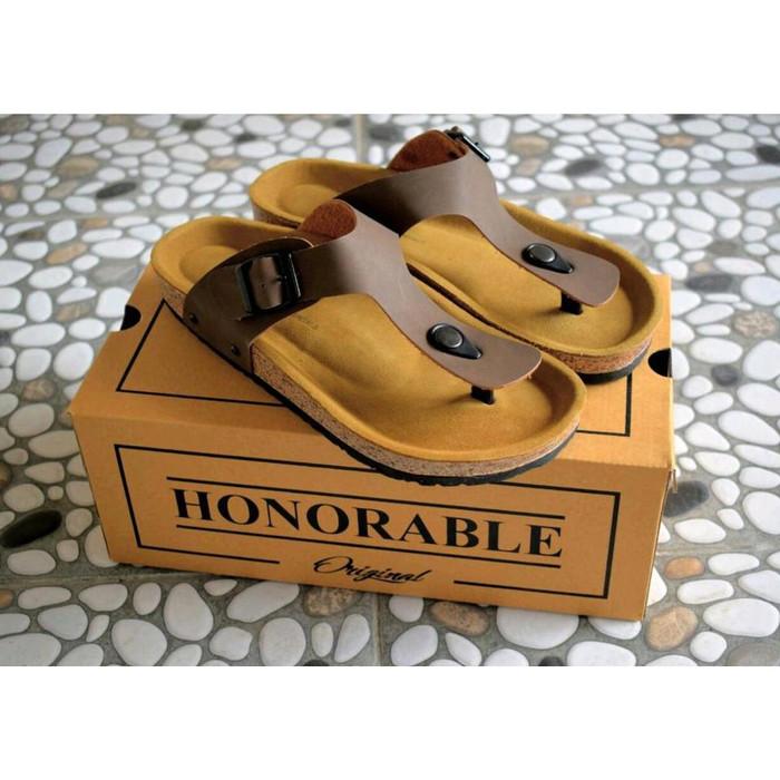 Sandal pria wanita honorable beach handmade sendal premium semi kulit