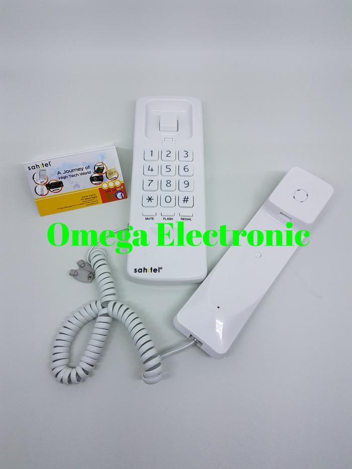 Foto Produk Sahitel S21 - Telepon Kabel Gantung Rumah Kantor - Hitam dari Omega Electronic