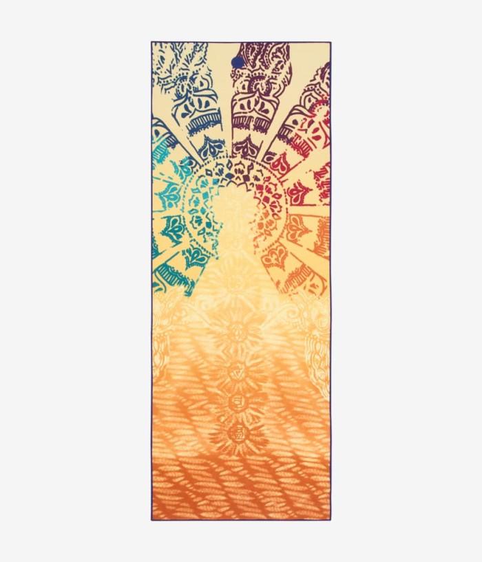 harga Manduka yogitoes yoga mat towel handuk - chakra print Tokopedia.com
