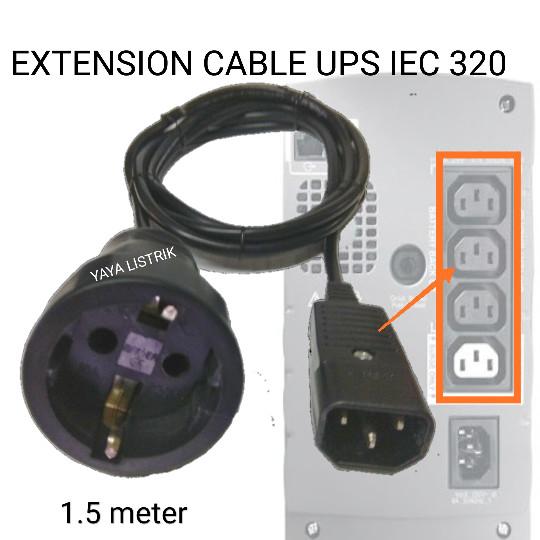 harga Extension kabel ups iec320 c14 kontra arde karet Tokopedia.com