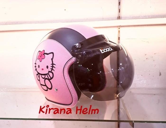 Jual Helm Bogo Original Karakter Hello Kitty Warna Pink Muda List