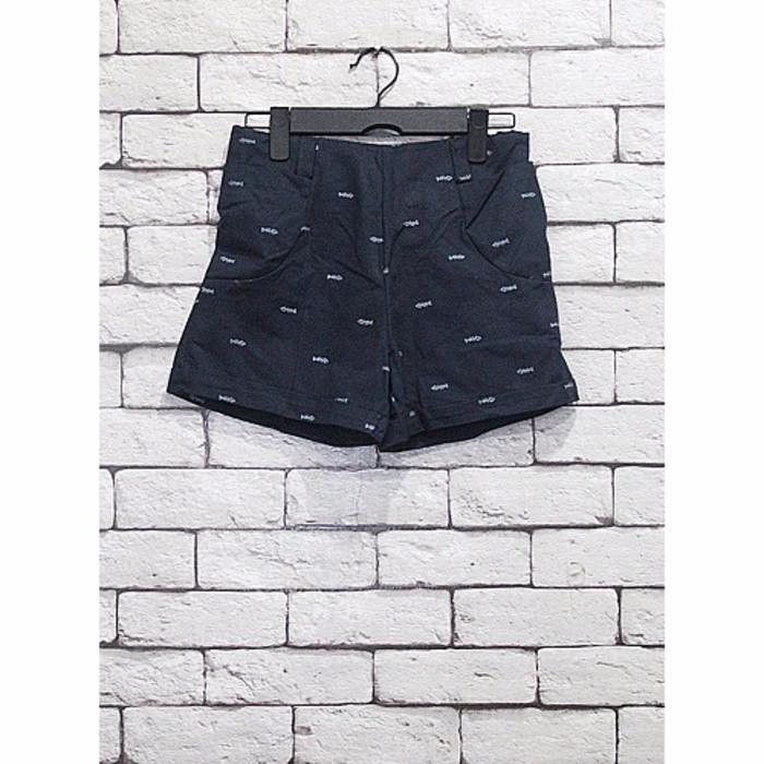 harga Special hot pant korea import hitam celana pendek motif tulang ikan li Tokopedia.com