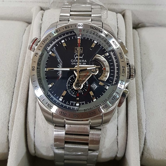 harga Tag heuer grand carrera calibre 36 rs caliper silver black steel Tokopedia.com