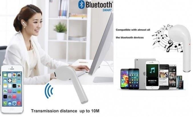 harga Wireless music bluetooth earphone i7 / headset bluetooth mini Tokopedia.com