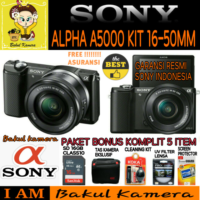 SONY ALPHA A5000 KIT 16-50mm / SONY