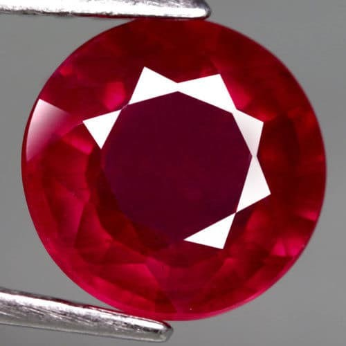 harga Rb142 natural ruby top blood red round cutting 3.20 ct Tokopedia.com