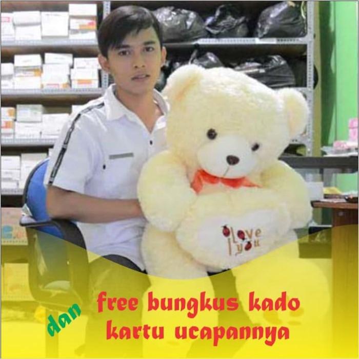 ... harga Boneka beruang teddy bear i love you cream besar 80 cm (sni)  Tokopedia d701e65812