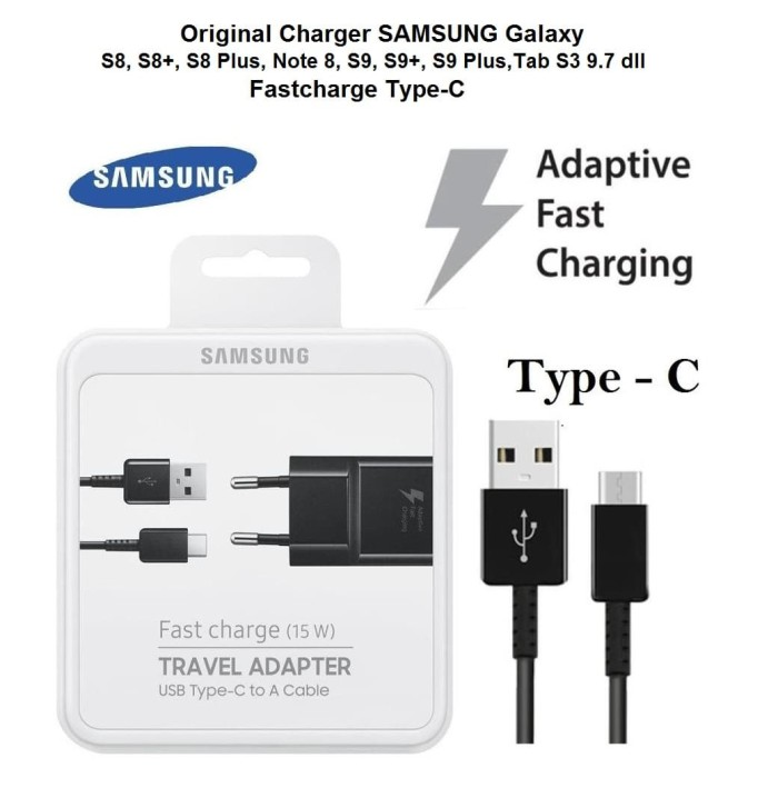 Foto Produk Original CHARGER SAMSUNG Galaxy S8 ,S8+,Note 8 Fast Charge Type-C dari My Styl3