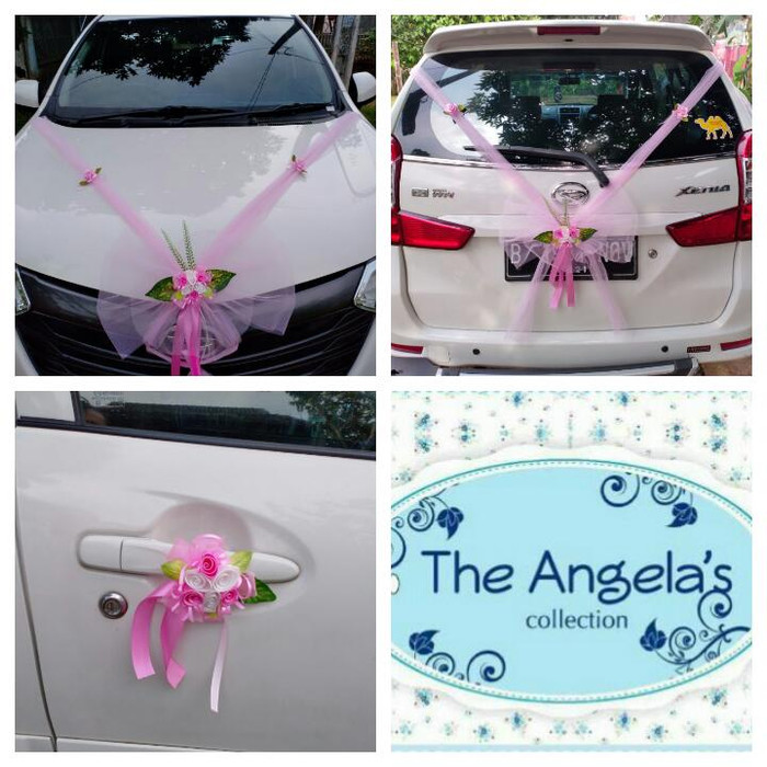 Jual Paket Hiasan Bunga Mobil Pengantin Warna Pink 4 Pintu 2 Kabin Biru Muda Kab Tangerang Angelas Collection Tokopedia