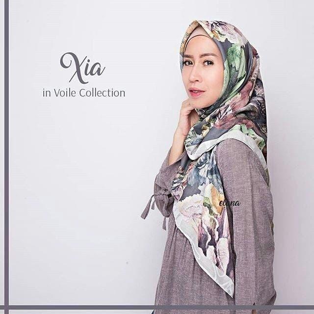 Xia - elana hijab jilbab printed in voal