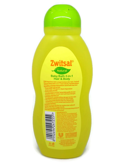 BABY BATH NATURAL 2IN1 HAIR AND BODY 200 ML SHAMPO DAN SABUN CAIR ZW