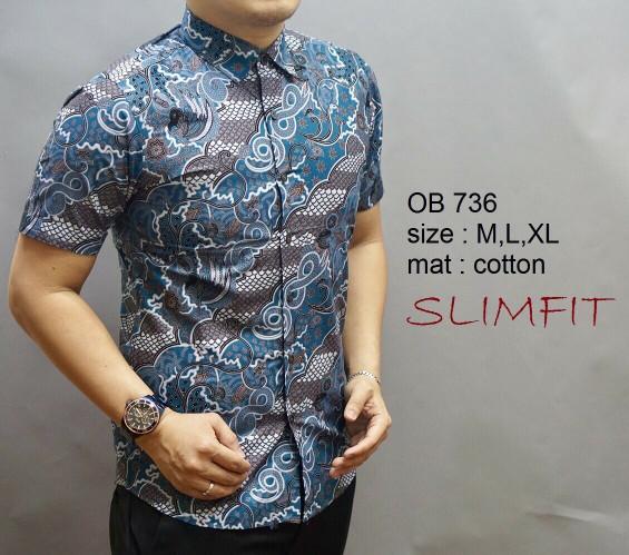 harga Baju batik pria modern slimfit lengan pendek ob 333 Tokopedia.com