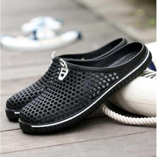 Sandal Mesh - Sendal Sepatu Slip On Pria Dan Wanita - Sandal Sepatu