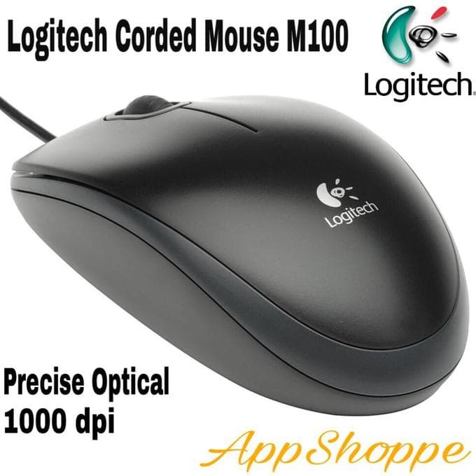 a26dea45c92 Jual New! Mouse Kabel Logitech M100 1000Dpi Wired Usb Optical Mouse ...