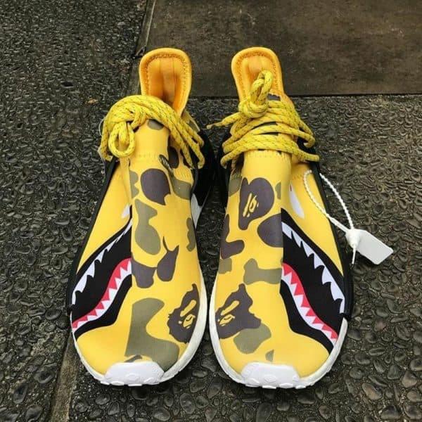 a904f63fa Adidas Nmd Human Race R1 X Pharrell Williams X Bape Yellow Shark Camo