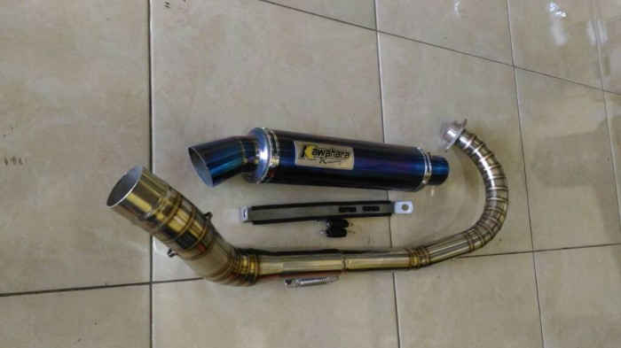 harga Knalpot kawahara blue for satria fu leher full cacing c Tokopedia.com