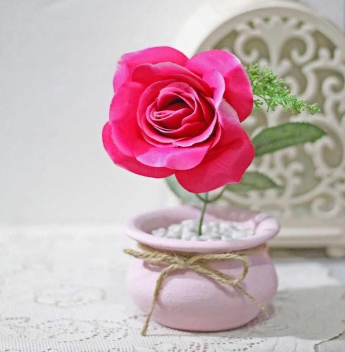 harga Bunga artificial mawar rose shabby chic vintage rustic pot kendi a1-1 Tokopedia.com