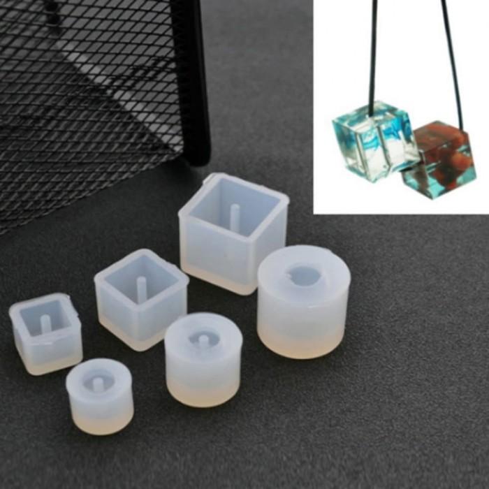 harga Beads silicone molds - cetakan beads bentuk silinder dan kubus (6pcs) Tokopedia.com
