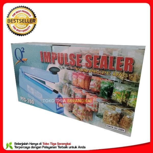 TERBAIK Q2 Impulse Sealer PFS-200 Pres Plastik 20 Cm LARIS