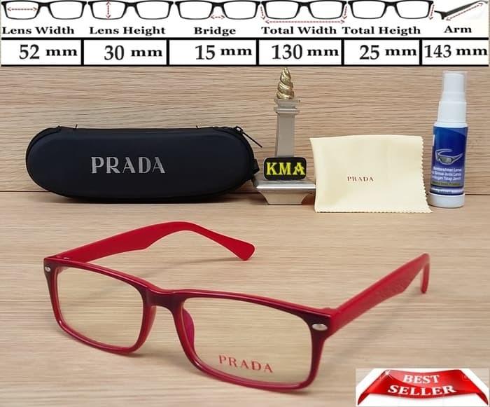 kacamata prada - kacamata fashion - kacamata cewek prada - prada new 3ca3cd125b