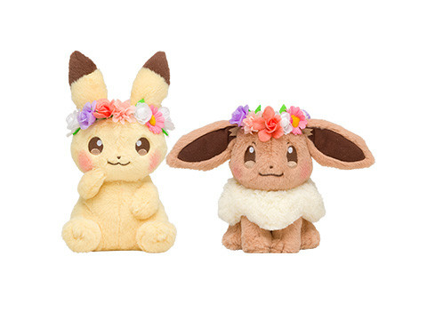 harga Pokemon center pikachu & eevee easter 2018 plush set ( boneka ) Tokopedia.com