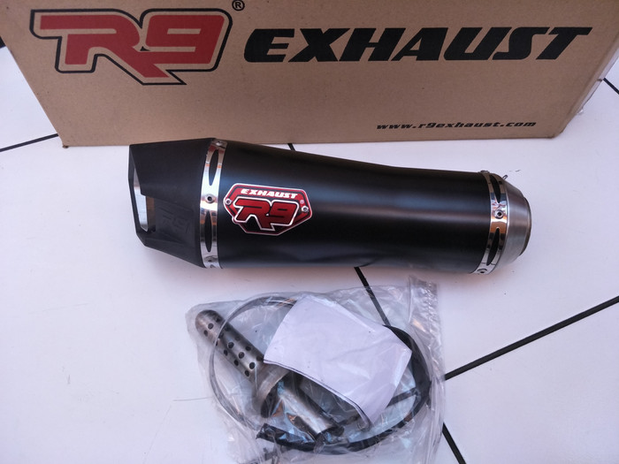 harga Knalpot r9 alpha black silencer only 50mm Tokopedia.com