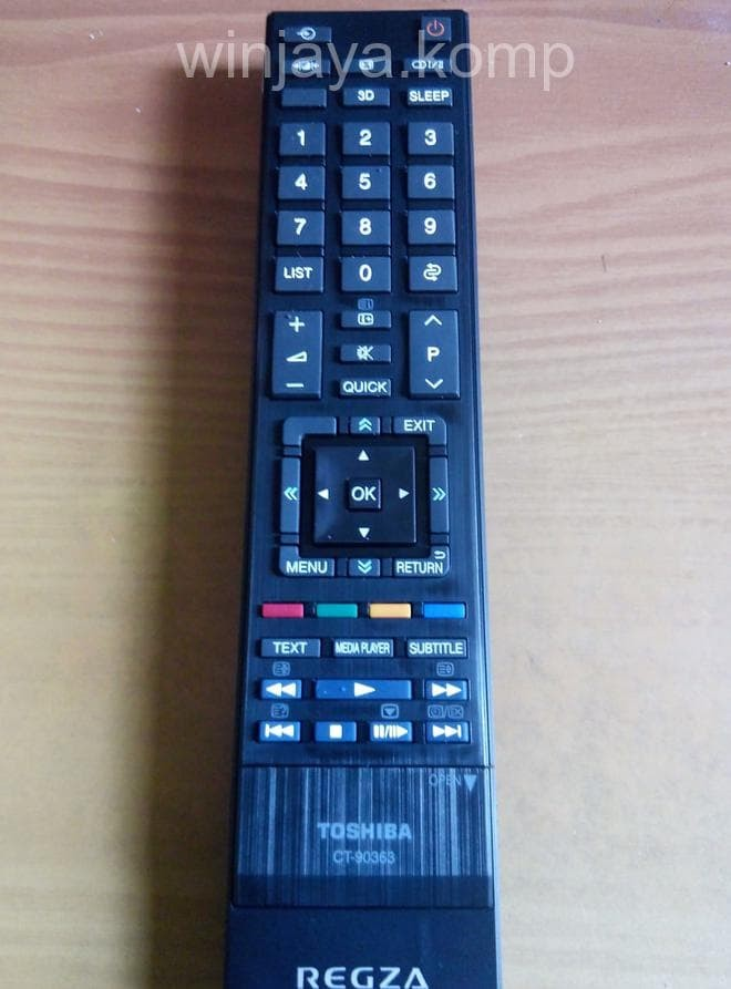 harga Remote tv led lcd toshiba regza - original new Tokopedia.com
