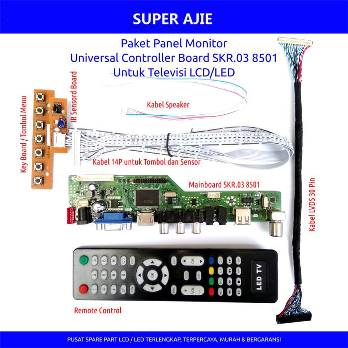 harga Paket universal lcd led tv monitor main board skr lvds fi 30p isi 7pcs Tokopedia.com