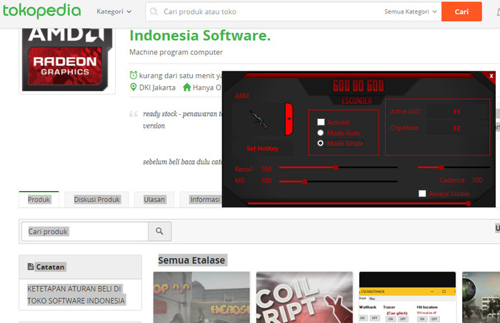 Jual cheat pubg no recoil terbaru - amd red edition - DKI Jakarta -  Indonesia Software  | Tokopedia
