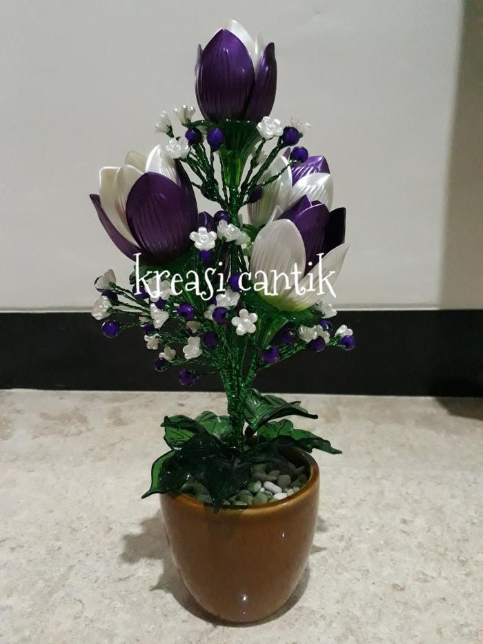 Jual Bunga Tulip Dari Bahan Akrilik Ungu Kota Depok Ammalia S Handmade Tokopedia
