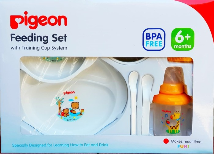 Pigeon Feeding Set Large / Besar With Training Cup