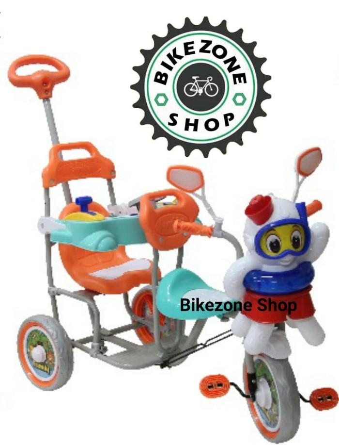 harga Sepeda anak roda tiga family boncengan 2 kursi octopus model baru Tokopedia.com