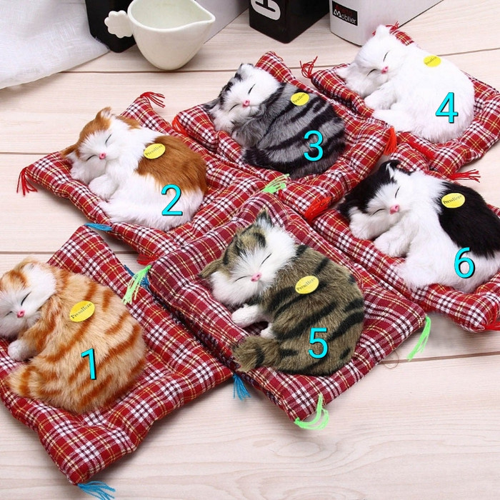 Foto Produk boneka kucing 3D bersuara/mainan anak bersuara/pajangan mobil bersuara dari JCVO