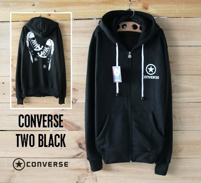 harga Sweater distro pria wanita jaket atasan jacket converse sepatu hitam Tokopedia.com