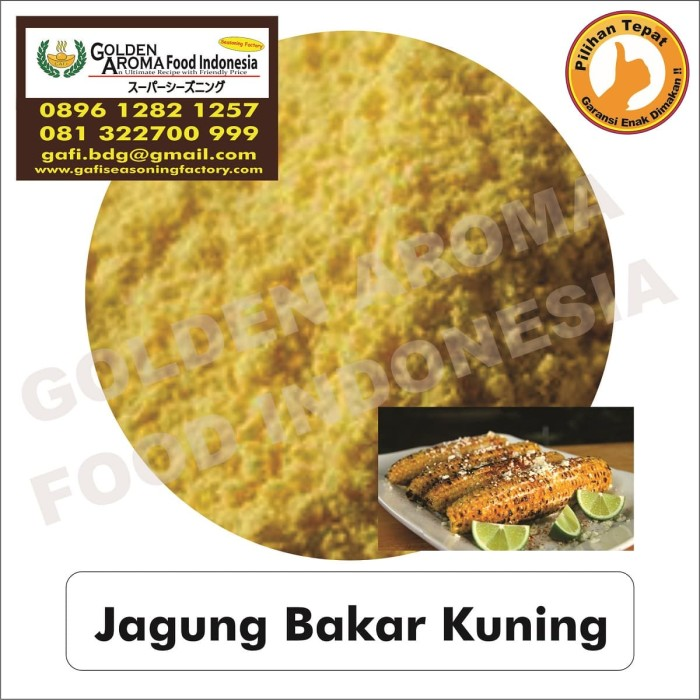 Bumbu tabur rasa jagung bakar kuning 0896-1282-1257 jual bubuk tabur j
