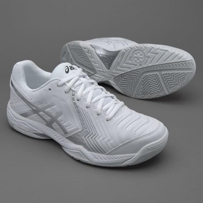 47f71ef06852f Jual Sepatu Tenis Asics Original GelGame 6 White Silver E705Y0193 ...