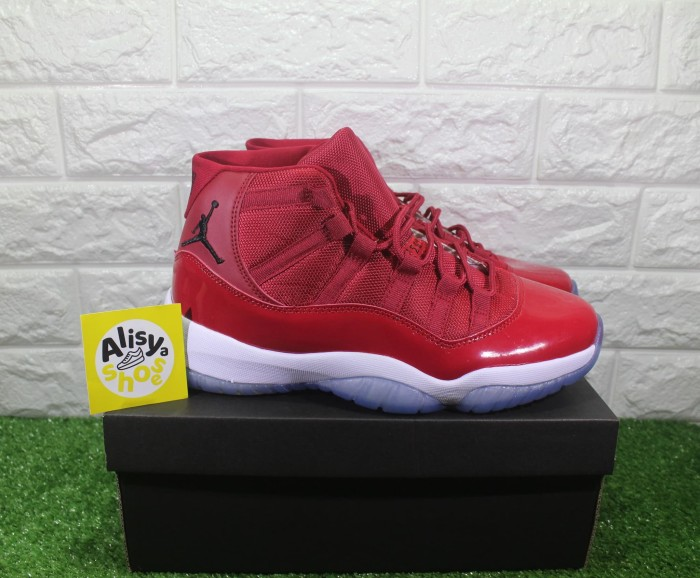 a87dff59fbe64a Jual Sepatu Nike Air Jordan 11 Retro Win Like 96 Gym Red ...