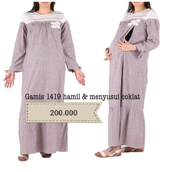 Jual Busana Muslim Hamil Menyusui Baju Hamil Gamis Hamil Baju