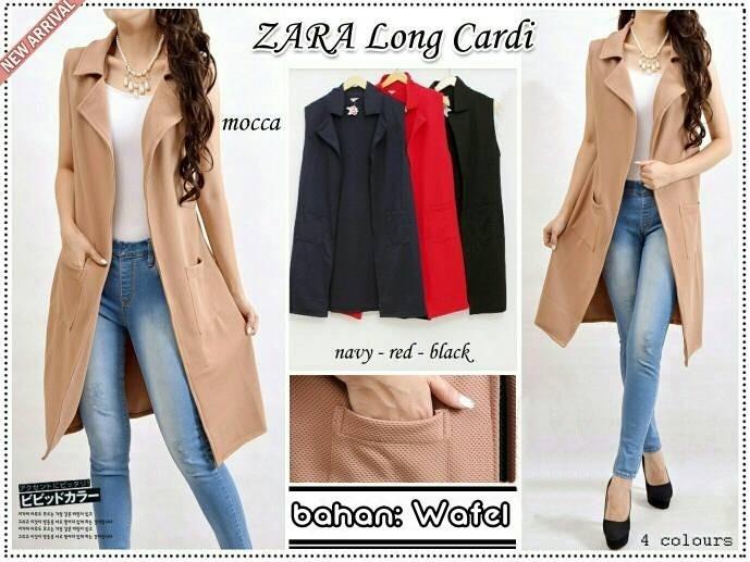 harga Cardigan panjang zara long vest / blazer jas wanita outer hijab murah Tokopedia.com