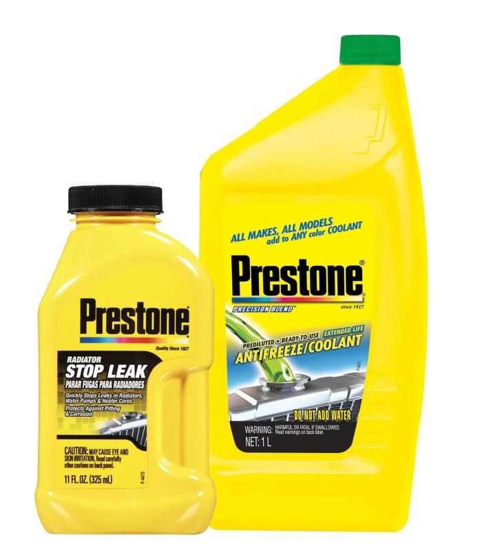 Prestone [bundle] stop leak +  ready to use liter green 1l