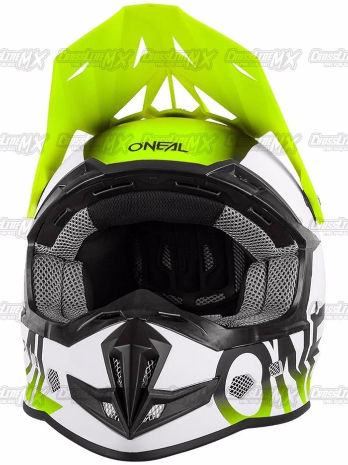 BEST SELLER Helm Cross Oneal 5 Series BLOCKER Black Hi Vis HELMET O N 2